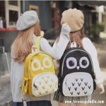กระเป๋าเป้ยี่ห้อ Super Lover ของแท้ นกฮูกสไตล์เกาหลีมี 3 สี ดำ ชมพู เหลือง(Preorder)