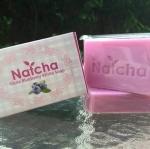 Natcha Gluta Blueberry White Soap 80 g. สบู่ Natcha กลิ่นบลูเบอร์รี่ เพื่อผิวกระจ่างใส ช่วยต้านอนุมูลอิสระ