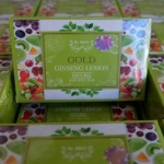 Gold Ginseng Lemon Natural White Body Soap by Jeezz 80 g. สบู่โสมมะนาวทองคำ