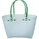 กระเป๋ากลาง ตัวขาว หูสีเขียวเข้ม (ATM-F8)
