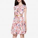 ชุดเดรส Floral Short-sleeved