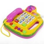 โทรศัพท์ดนตรี สีเหลือง (Novel Telephone)...ฟรีค่าจัดส่ง