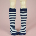 Navy & White Stripe Stocking