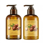 Nature Republic Argan Essential Deep Care Shampoo + Conditioner 300+300 ml. แชมพู+ครีมนวดผม