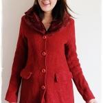 ((ขายแล้วครับ))((คุณiambumจองครับ))ca-1479 เสื้อโค้ทกันหนาวผ้าวูลสีแดง รอบอก33
