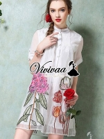Vivivaa Tropical Embroider Dress