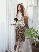 Seoul Secret Set Long Blossom Vintage with Cami Wool Weave