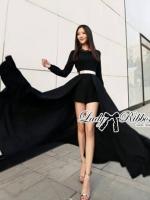 Lady Ribbon Glam Chic Evening-wear Maxi Dress