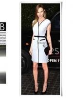 B&W Classic Style เดรสขาวดำ แขนล้ำ แต่งดีเทลคอเสื้อ