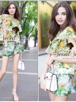 Seoul Secret Set Vintage Organza Blouse with Skirt