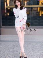 Seoul Secret ชุดเซ็ทเสื้อพิมพ์ลายสีพาสเทล กางเกงสีชมพู
