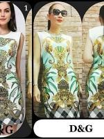 Vintage Dress เดรสแขนกุด พิมพ์ลายวินเทจสไตล์ไฮแบรนด์