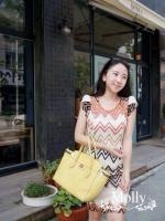 Graphic Lace Dress เดรสลูกไม้ซีทรู ทอลายกราฟฟิก แขนตุ๊กตา