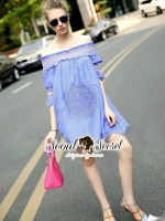 Seoul Secret Sweepy Smocking Chic Dress