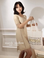 Marsh Mallow Coco Lace Stitch Dress
