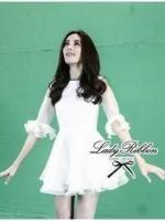 CelebStyle White Organza Dress เดรสผ้าแก้วสีขาว แต่งระบาย