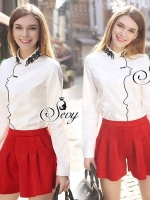 Sevy Kiss Long Sleeve Collar Shirt