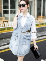 Seoul Secret Korea Denim Dress Shirt Mix