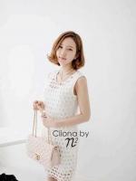 Cliona Romantic White Lace Dress เดรสลูกไม้สีขาว