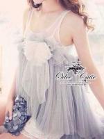 Fantasy Lace Blouse เสื้อตาข่ายแขนกุด โทนสีม่วง-ขาว