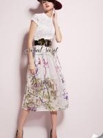 Seoul Secret Fashionista Forest Skirt Long Dress