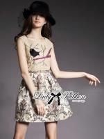 Lady Ribbon Dreamy Garden Embroidered Sleeveless Dress