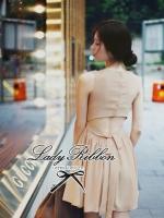 Lady ribbon เดรสชีฟองเว้าหลัง ผูกโบว์ สีดำ สีครีม