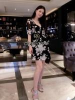 Seoul Secret Black Dinner Dress