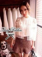 Lady Ribbon Lace Cardigan เสื้อคลุม ช่วงไหล่แต่งผ้าซีทรู สีขาว สีดำ