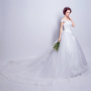 (Pre-Order) ชุดแต่งงาน <ไหล่ปาด> รหัสสินค้า WDL0821