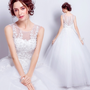 (Pre-Order) ชุดแต่งงาน <แขนกุด> รหัสสินค้า WDL0816