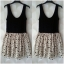 Topshop ladies Black & Cream Polka Dot Summer dress Size Uk10 thumbnail 3