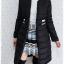 ((ขายแล้วครับ))ca-2612 เสื้อโค้ทกันหนาวผ้าร่มสีดำ รอบอก38 thumbnail 3