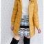 ((ขายแล้วครับ))((คุณYorจองครับ))ca-2611 เสื้อโค้ทกันหนาวผ้าร่มสีเหลืองมัสตาร์ด รอบอก37 thumbnail 3