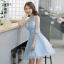 (เช่าชุดราตรี-สุขุมวิท105) ชุดราตรี <สีฟ้า> รหัสสินค้า LS-EVS0889 thumbnail 1