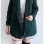 ((ขายแล้วครับ))((คุณประสัสสรจองครับ))ca-2655 เสื้อโค้ทกันหนาวผ้าวูลสีเขียวเข้ม รอบอก36 thumbnail 3