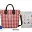 กระเป๋าสะพายข้างยี่ห้อ Super Lover สไตล์ญี่ปุ่นและเกาหลีใต้สก็อตแดงสด (Preorder) thumbnail 17