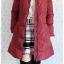 ((ขายแล้วครับ))((คุณณัฐชยาจองครับ))ca-2649 เสื้อโค้ทกันหนาวผ้าร่มขนเป็ดสีไวน์แดง รอบอก38 thumbnail 3