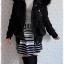((ขายแล้วครับ))ca-2550 เสื้อโค้ทกันหนาวผ้าร่มสีดำ รอบอก36 thumbnail 3