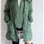 ((ขายแล้วครับ))((จองแล้วครับ))ca-2578 เสื้อโค้ทกันหนาวผ้าร่มสีเขียว รอบอก42 thumbnail 3