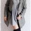 ((ขายแล้วครับ))((คุณอารีย์จองครับ))ca-2716 เสื้อโค้ทกันหนาวผ้าถักลายดำเทา รอบอก38 thumbnail 3