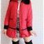((ขายแล้วครับ))((จองแล้วครับ))ca-2667 เสื้อโค้ทกันหนาวผ้าร่มสีแดง รอบอก40 thumbnail 3