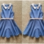 Topshosp Blue and Pink with belt Playsuit size uk10 thumbnail 2
