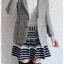 ((ขายแล้วครับ))((คุณKanchanaจองครับ))ca-2559 เสื้อโค้ทกันหนาวผ้าถักสีเทา รอบอก36 thumbnail 3