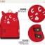 กระเป๋าเป้ยี่ห้อ Super Lover สาวญี่ปุ่นฮัน Xiaoqing ผ้าใบสีแดงน้องแมว (Preorder) thumbnail 7