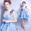 (เช่าชุดราตรี) ชุดราตรี <สีฟ้า> รหัสสินค้า EK_EVS0711 thumbnail 1