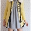 ((ขายแล้วครับ))((คุณAengจองครับ))ca-2707 เสื้อโค้ทกันหนาวผ้าถักสีเหลือง รอบอก33 thumbnail 3