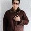 ((ขายแล้วครับ))((จองแล้วครับ))cm-96 เสื้อแจ๊คเก็ตกันหนาวผ้าชามัวร์สีน้ำตาล รอบอก45 thumbnail 1