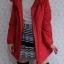((ขายแล้วครับ))((คุณSirlukจองครับ))ca-2603 เสื้อโค้ทกันหนาวผ้าร่มสีแดง รอบอก40 thumbnail 3