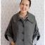 ((ขายแล้วครับ))((คุณวริศราจองครับ))ca-2713 เสื้อโค้ทกันหนาวผ้าถักลายดำเทา รอบอก39 thumbnail 1